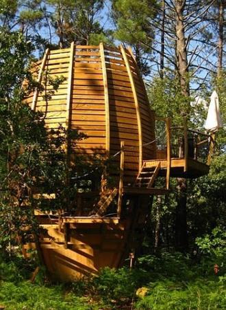 cap cabane des h bergements nature dans la for t des landes. Black Bedroom Furniture Sets. Home Design Ideas